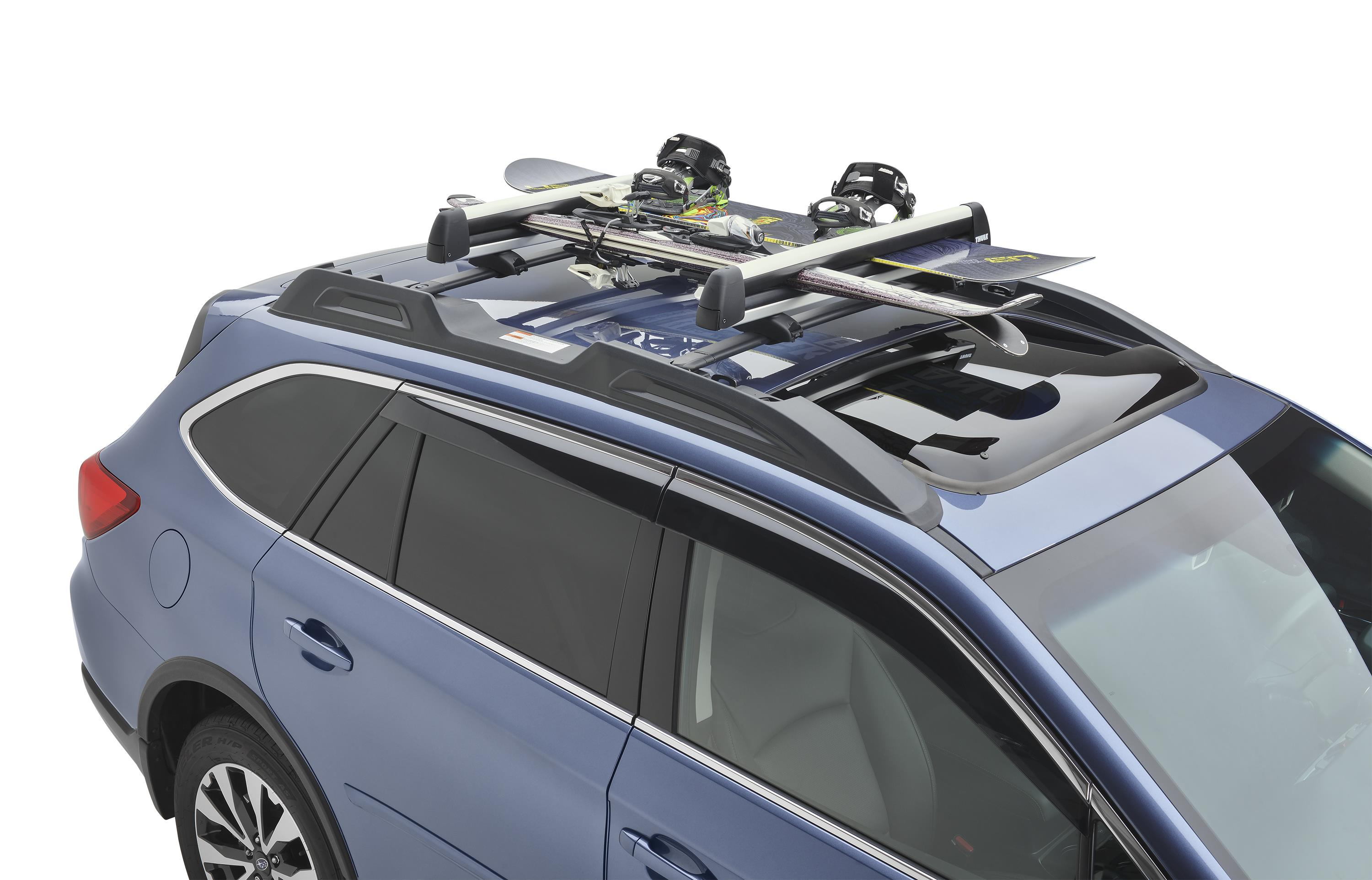 Mark Miller Subaru >> 2017 Subaru Outback Ski / Snowboard Carrier (Thule). Securely, Four, Snowboards - SOA567S010 ...